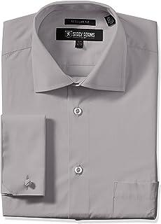 Stacy Adam's Men's Adjustable Collar Dress Shirt