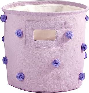 Heritage Kids Pom 储物篮,紫色