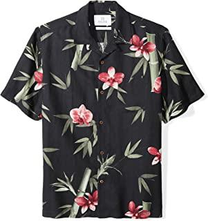 28 Palms Men's Relaxed-Fit Short-Sleeve Silk Linen Blend Printed Camp Shirt