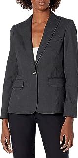 Jones New York 女式可水洗单扣西装外套