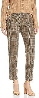 SLIM-SATION 女式套穿格子九分裤,前后无痕
