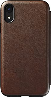 Hello Nomad 三折式对开式 iPhone 手机壳乡村风格棕色皮革,iPhone XR