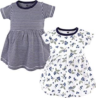 Hudson 女婴棉质连衣裙,2 件装