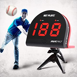 NetPlayz 棒球雷达,速度传感器训练设备(免提雷达枪,投球速度枪   棒球礼物、高科技小工具和棒球运动员装备