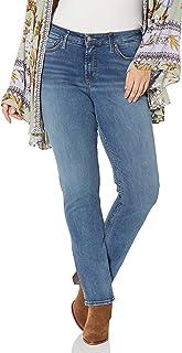 Silver Jeans Co. 女士加大码 Avery 曲线修身高腰直筒牛仔裤