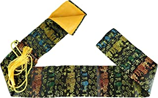 MAKOTO 丝绸剑包 适用于日本武士刀、Wakizashi 和中国太极剑(黑色车)