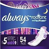 Always Radiant Feminine Pads for Women, Size 5, Extra Heavy…