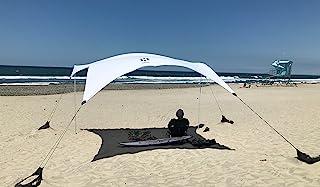 Neso 帐篷 Gigante 海滩帐篷,8 英尺高,11 x 11 英尺,*大便携海滩遮阳,UPF 50+ *,加固角落和冷藏袋