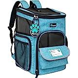 PetAmi 宠物背包适用于小型猫、狗、小狗 | 航空公司认可 | 透气、4 路入口、*和软垫背部支撑 | 可折叠,适合…
