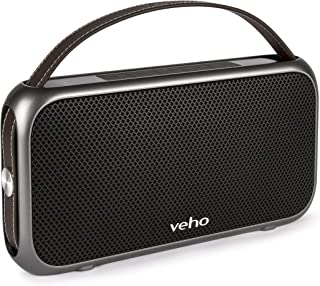 Veho M7 Mode 复古无线蓝牙防水扬声器带移动电源 - 黑色