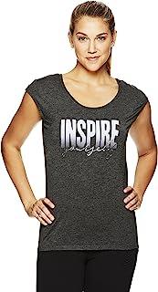 Gaiam 女式 Dani 瑜伽短袖图案 T 恤 - 女士运动上衣