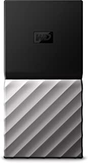 Western Digital My Passport SSD 移动硬盘 512GB(移动存储,密码保护,540 MB/s传输速率,防震,USB C口),兼容PC,Xbox和PS4,黑色/金属