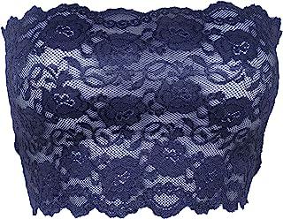 Ally Rose 女士弹性蕾丝吊带抹胸抹胸上衣