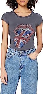 THE ROLLING STONES 女式经典英国舌头短袖 t 恤