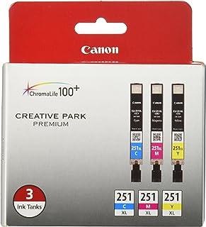 Canon CLI-251XL 3 色多件装兼容 MG6320、iP7220、MG5420、MX922、MX722、MG7120、MG6420、MG5520、iX6820、iP8720、MG7520、MG6620、MG5620