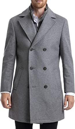 Chaps 男士经典双排扣大衣
