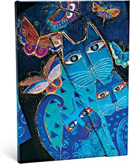 paperblanks 爱尔兰 中号猫咪系列笔记本蓝猫与花蝴蝶 MIDI