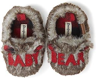 Dearfoams 中性儿童 Lil Bear 拖鞋