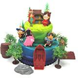 重力秋季豪华生日蛋糕装饰套装,印有重力秋季人物和主题配件
