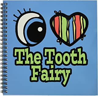 3dRose db_106632_1 Bright Eye Heart I Love The Tooth Fairy-Drawing Book, 8 by 8-Inch