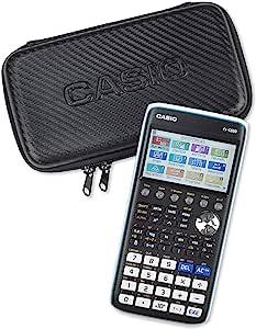 Casio 卡西欧图形保护套,图形计算器保护套,黑色,碳设计,带内袋用于配件