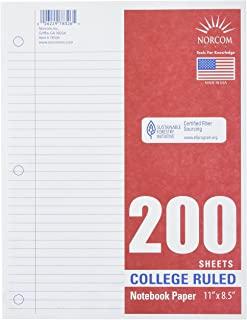 Norcom College 壁装填纸,27.94 x 21.59 cm,200 张,白色 (78326-24)