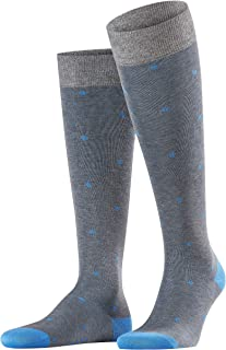 FALKE 男式圆点及膝袜 - 88% 棉,多种颜色,英国尺码 5.5-11 (欧码 39-46),1 对 - 高级丝光,永恒的圆点图案,独特的色彩亮度