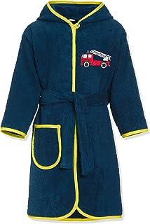 Playshoes 男童 Kinder Frottee-Bademantel Feuerwehr 浴袍