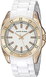 Anne Klein 女士 109178RGWT 施华洛世奇水晶点缀手表