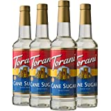 Torani 糖浆,甘蔗糖甜味剂,25.5 盎司(约 720.1 克)(4 件装)
