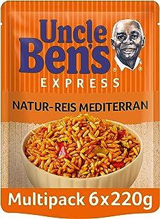 Uncle Ben's Express-Reis Naturreis Mediterran, 6 Packungen (6 x 220g)