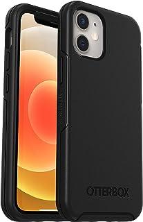 OtterBox Symmetry - 优雅超薄防摔保护套,适用于Apple iPhone 12 mini,黑色(无零售包装)