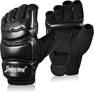 Xinluying Punch Bag Taekwondo Karate Gloves for Sparring Martial Arts Boxing Training Fingerless Women Kids