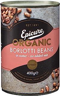 Epicure Organic Borlotti Beans , 400 g - 6 pack