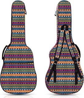 波西米亚吉他包复古吉他盒 1.7 厘米厚海绵填充吉他盒适用于 40 41 42 英寸原声经典吉他