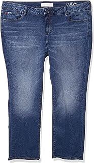 SLINK Jeans 女式加大码 Nikki 中腰男友