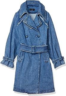 EMODAE 大衣 SWITCHING LINE BLUKY TRENCH CO 女士 蓝色 日本 F (FREE サイズ)