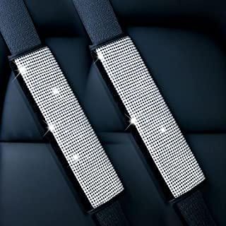 Tibimon 2 件装*带肩垫带水晶水钻,闪亮*带罩钻石汽车装饰配件女士或女孩