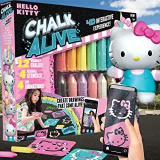 Hello Kitty 粉笔由 Horizon Group USA,增强现实人行道粉笔艺术,包括 12 个可水洗人行道粉笔,4 个人物模板,制作活泼的图纸