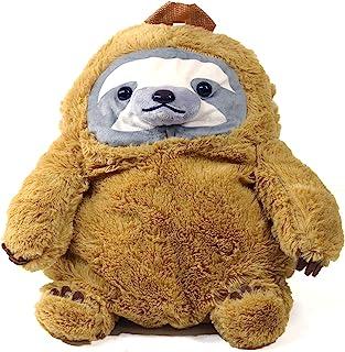 Stuffed Sloth 毛绒背包,舒适填充动物玩具,超柔软材料,毛绒旅行伴侣