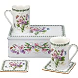 Botanic Garden Sweet Pea Motif 5件套锡盒,瓷制,多色,8.5 x 12 x 9.5厘米