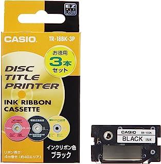 CASIO 卡西欧 墨盒 黑色 3个装