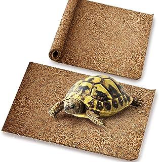 Meric 爬行动物床,12 英寸 x 14 英寸(约 30.5 厘米 x 35.56 厘米),Coco 纤维垫适用于宠物,蛇,变色龙,壁虎,乌龟,登山地毯,2 件装