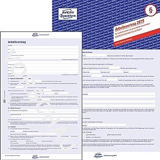 Avery Zweckform 2879 商业和商业工作者工作协议(合同,3 页表格,A4,自复制)5 件装蓝色