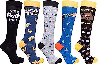 短袜 N socks-women 5或2双装奢华棉质彩色酷炫 FUN 及膝袜