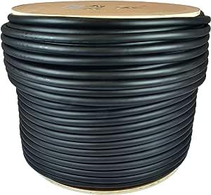 GLS 音频 500 英尺散装专业扬声器电缆 12AWG 4 导体 黑色 - 12 标准接插线 12/4 线 - 专业 500 英尺线轴卷 12G 4 导体 散装