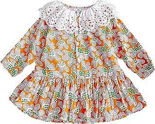 ChagoArt 幼儿长袖衬衫女孩-女婴长袖上衣-女孩 T 恤衬衫