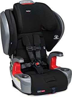 Britax Grow with You ClickTight Plus *带 2-增高汽车座椅 | 3 层碰撞保护 - 25 至 110 磅,Jet Safewash 面料 [Pinnacle新版本]