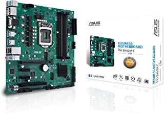 ASUS 华硕 PRO B460M-C/CSM LGA1200 (Intel * 10 代) uATX 商用主板(双 M.2,Intel LAN,2X DisplayPort,4K @ 60Hz,LPC 调试Header 和 ASUS 控制中心...