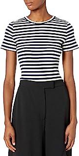 Theory 女士短袖条纹小号 T 恤